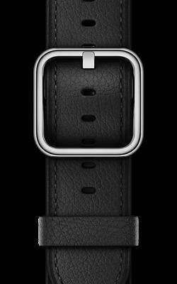 чёрного цвета с классической пряжкой MPW92 MPWR2 250x400 - Аксессуары для Apple watch