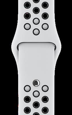 ремешок Nike цвета чистая платина чёрный MQWH2 MQWQ2 250x400 - Аксессуары для Apple watch